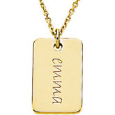 Posh Mommy® Engravable Mini Dog Tag Pendant