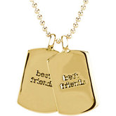 Heart U Back™ Mini Dog Tag w/ Chain