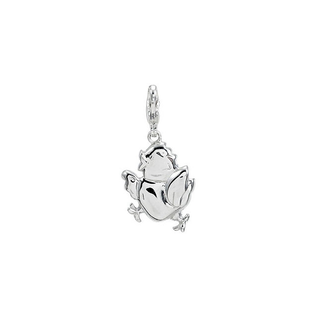Sterling Silver Charming Animals® Baby Chick Charm