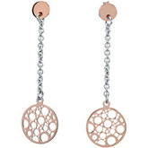 Rose gold Plated Sterling Silver Fashion Earrings w/backs