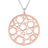 Rose Gold Plated Sterling Silver Fashion Necklace