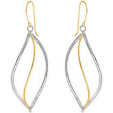 14kt Yellow Gold & Sterling Silver Earrings