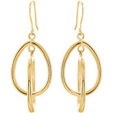 14K Gold-Clad Sterling Silver Earrings