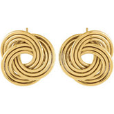 14K Gold-Clad Sterling Silver Knot Earrings