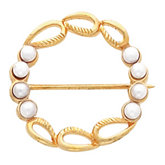 Circle Brooch Mounting for Pearls