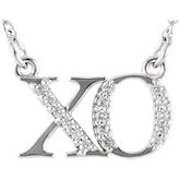 Diamond XO Necklace