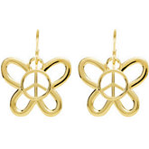 Butterfly Shaped Peace Sign Earrings