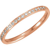 Diamond Machine-Set Eternity Band