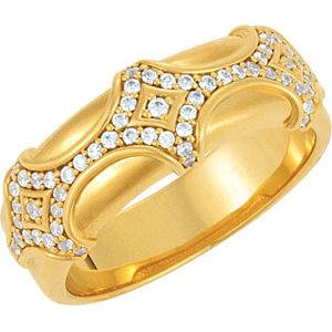 14K Yellow 1/2 CTW Diamond Men's Ring
