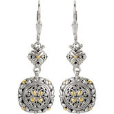 Filigree Design Earrings with 18KY Accents