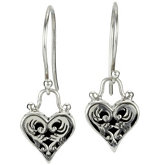 Fashion Earrings with Heart Dangle
