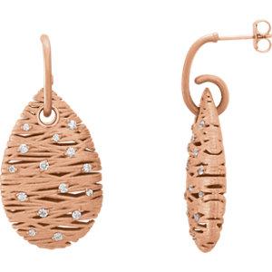 14kt Rose A/  ATW Diamond<br> Nest Design Earrings