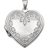 Heart Locket with Scroll Design