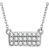 Diamond Rectangle Cluster Necklace