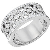 3/4 ct tw Diamond Etruscan Inspired Anniversary Band