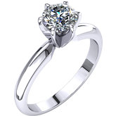 Round 6-Prong Tall & Light Solitaire Ring Mounting