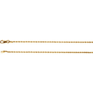 "14K Yellow 1.5mm Rope 7"" Chain"