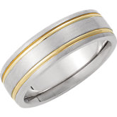 Two-Tone 7mm Band
