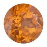 Round Genuine Spessartite Garnet (Black Box)