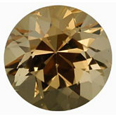 Round Genuine Golden Precious Topaz (Black Box)