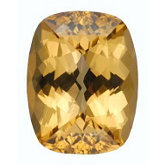 Antique Cushion Genuine Golden Precious Topaz (Black Box)
