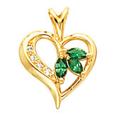 Heart Shape Pendant Mounting for Marquise Center