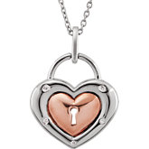 .05 ct tw Diamond Heart Lock 18