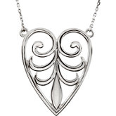 Filigree Design Heart  Pendant or Necklace