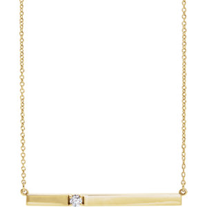 Diamond Bar Necklace or Center Mounting