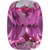 Antique Cushion Chatham Created Pink Sapphire