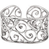 1/2 ct tw Diamond Cuff Bracelet