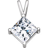 Princess/Square Pendant with Round Prongs