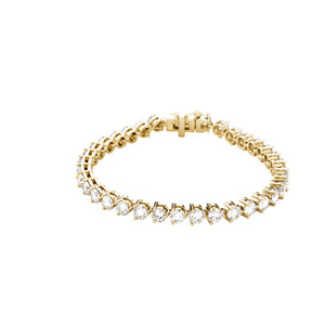 "18K Yellow 12 CTW Diamond Line 7.25"" Bracelet"