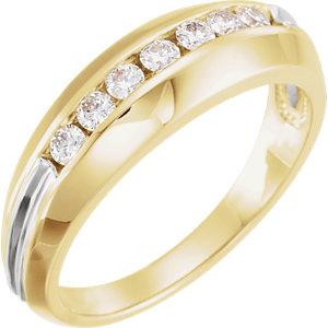 14K Yellow & White Men's 3/8 CTW Diamond Ring