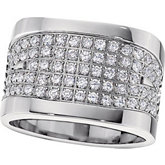 Titanium Ring with Cubic Zirconia