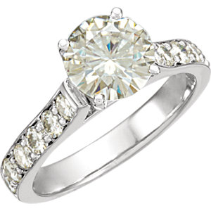 Created Moissanite Engagement Ring or Band