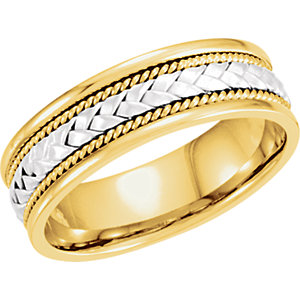 Two-Tone 6.75mm Hand-Woven Band