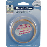 Beadalon Half-Round Non Tarnish Brass 22 Gauge Wire