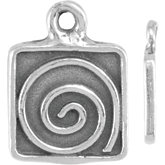 Swirl Design Dangle with Square Frame