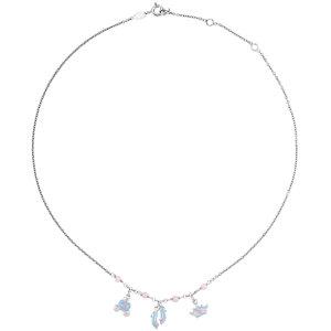 """Sterling Silver Cinderella Enamel & Pink Cubic Zirconia 14-16"""" Necklace"""