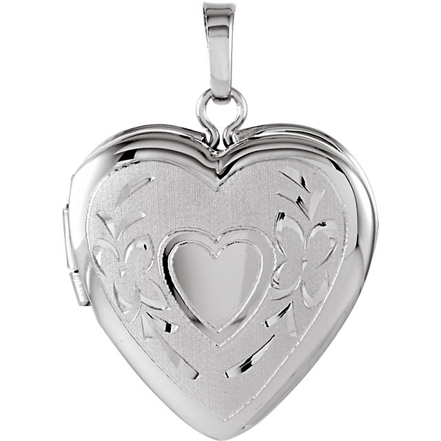 Sterling Silver 22.25x16mm Heart Shape Locket