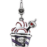 Enamel Ice Cream Cup Charm