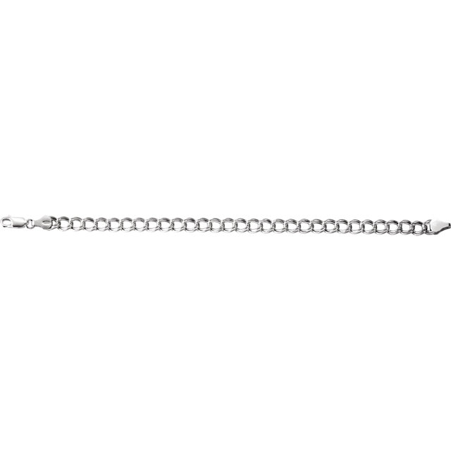 Sterling Silver 5.5mm Hollow Paralleo Charm 7