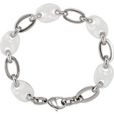 Ceramic Couture™ & Stainless Steel Bracelet