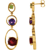Multi-Gemstone Earrings
