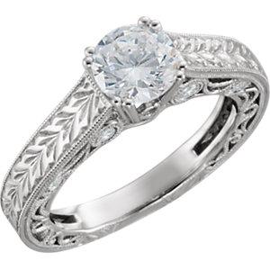14kt White 1/5 ATW Diamond Band Size 6