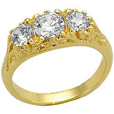 3/4 CTW Diamond 3-Stone Semi-mount Ring