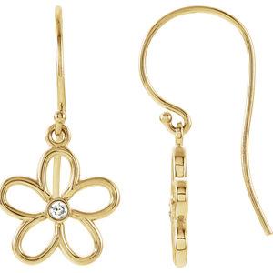 Flower Dangle Earring