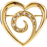 Heart Shape Brooch Mounting