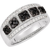 3/4 ct tw Black & White Diamond Ring